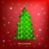 De Kaart van de Kerstmisgroet, vectorillustratie Royalty-vrije Stock Afbeelding