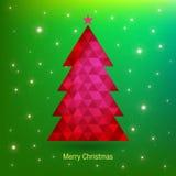 De Kaart van de Kerstmisgroet, vectorillustratie Royalty-vrije Stock Foto