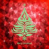 De Kaart van de Kerstmisgroet, vectorillustratie Royalty-vrije Stock Foto's