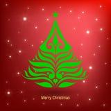 De Kaart van de Kerstmisgroet, vectorillustratie Stock Foto