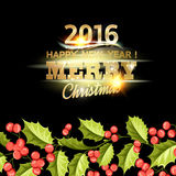 De kaart van de Kerstmismaretak Royalty-vrije Stock Afbeeldingen