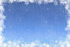 de kaart van de KerstmisSneeuwvlok Stock Afbeelding