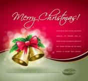 De Kaart van de Klokken van Kerstmis. Royalty-vrije Stock Afbeeldingen