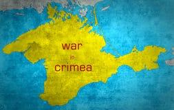 De kaart van de Krim met de Russische uitbreiding Stock Afbeelding