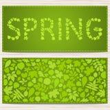 De kaart van de lente Stock Foto's
