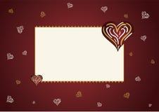 De kaart van de liefde Stock Foto's
