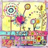 De Kaart van de liefde Stock Afbeeldingen