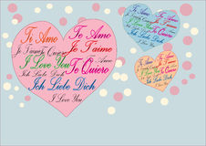 De Kaart van de liefde Stock Foto