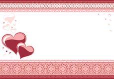 De kaart van de liefde. De dag van de valentijnskaart Royalty-vrije Stock Foto's