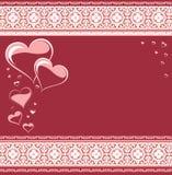 De kaart van de liefde. De dag van de valentijnskaart Stock Fotografie