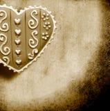 De kaart van de liefde in sepia toon Royalty-vrije Stock Foto