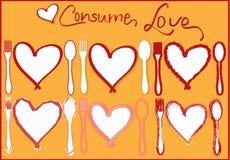 De Kaart van de Liefde van de valentijnskaart Stock Foto's