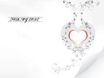 De kaart van de liefde. Vector. Stock Afbeelding
