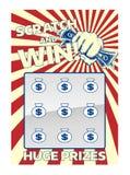 De Kaart van de lottokras Stock Foto's