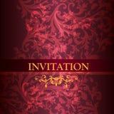 De kaart van de luxeuitnodiging in purpere kleur stock illustratie