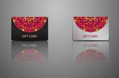 De kaart van de malplaatjegift, creditcard, adreskaartje Royalty-vrije Stock Afbeelding