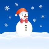 De kaart van de marionettenKerstmis van de sneeuw Stock Afbeeldingen