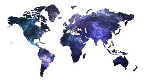 De Kaart van de melkwegwereld Stock Afbeeldingen