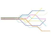 De kaart van de metro Stock Afbeeldingen