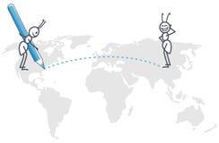 De kaart van de mierenwereld Royalty-vrije Stock Fotografie