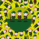 De kaart van de Militair van het beeldverhaal Royalty-vrije Stock Afbeelding