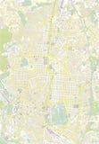 De kaart van de MMadridkleur Royalty-vrije Stock Afbeeldingen