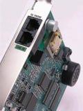 De kaart van de modem Stock Afbeeldingen