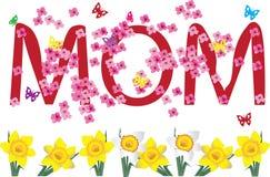 De kaart van de moederdag Stock Illustratie
