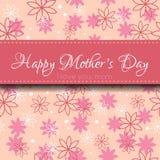 De kaart van de moedersdag Stock Afbeeldingen