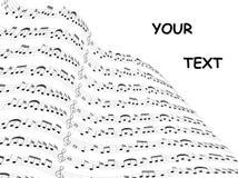 De kaart van de muziek stock illustratie
