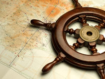 De kaart van de navigatie stock foto's