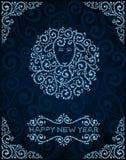 De kaart van de nieuwjaargroet met abstracte schapen Royalty-vrije Stock Fotografie
