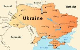 De kaart van de Oekraïne stock illustratie
