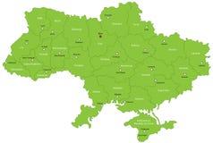 De kaart van de Oekraïne vector illustratie
