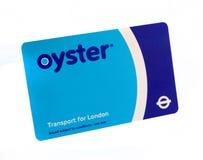 De kaart van de oester Royalty-vrije Stock Foto