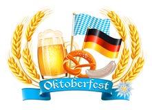 De kaart van de Oktoberfestviering Stock Afbeeldingen