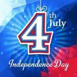 De kaart van de onafhankelijkheidsdag Stock Foto