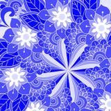 De kaart van de ornamentkleur met mandala Royalty-vrije Stock Afbeelding