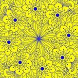 De kaart van de ornamentkleur met mandala Stock Afbeelding