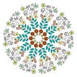 De kaart van de ornamentkleur met mandala Uitstekende decoratieve elementen H Royalty-vrije Stock Foto's