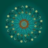 De kaart van de ornamentkleur met mandala Uitstekende decoratieve elementen H Stock Fotografie
