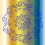 De kaart van de ornamentkleur met mandala Uitstekende decoratieve elementen H Royalty-vrije Stock Afbeelding