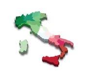 De Kaart van de Provincie van Italië stock illustratie