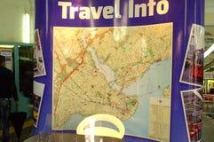 De kaart van de reisinformatie Stock Foto's
