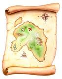 De kaart van de schat Royalty-vrije Stock Afbeelding