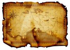 De kaart van de schat Stock Foto's