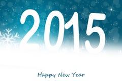 De kaart van de Silvestergroet 2015 Stock Foto's