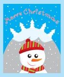 De kaart van de sneeuwman Royalty-vrije Stock Foto