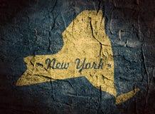 De kaart van de staat van New York royalty-vrije illustratie