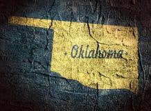 De kaart van de staat van Oklahoma stock illustratie